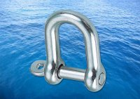 Straight D Shackle Captive Pin A4 (316)