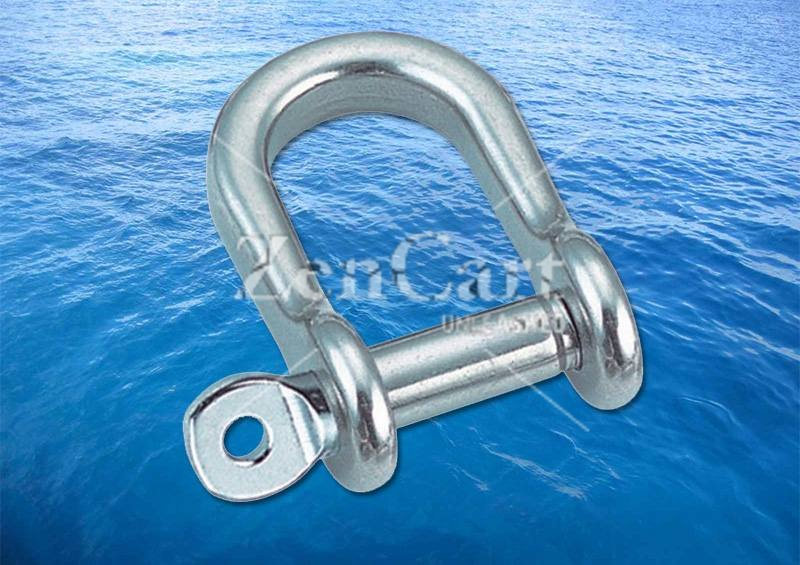 Flat Shackle Semi Round A4 (316) - Click Image to Close