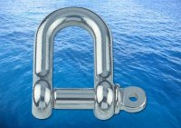 Straight D Shackle Short A4 (316)