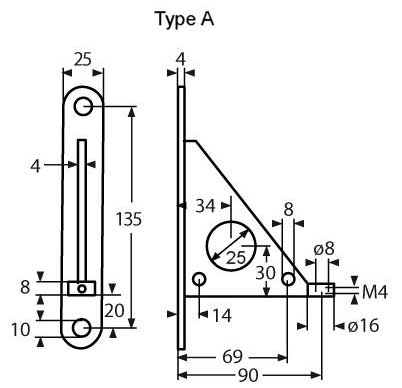 ESS Combination Of Wall Bracket Type A A4