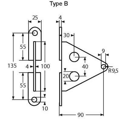 ESS Combination Of Wall Bracket Type B A4